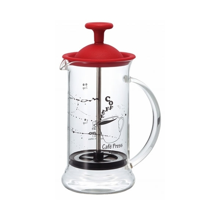 Hario French Press Slim S Červený