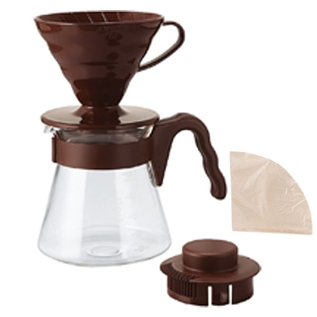 Hario Pour Over Kit Hnedý
